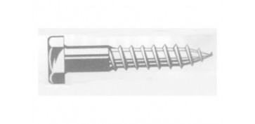 Fijación y Tornilleria - TORNILLO ROSCA LIMA C/HEXA D571 ZIN 8X 90
