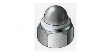 TUERCA CIEGA LATON NIQUEL M 4