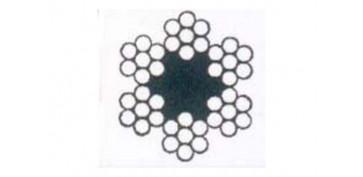 CABLE ACERO GALVANIZADO ROLLO 50 M Ø 2 (6 X 7) +1 ALMA TEXTIL