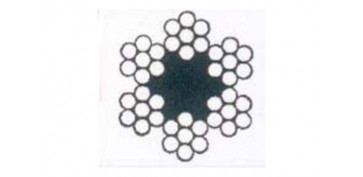 CABLE ACERO GALVANIZADO ROLLO 50 M Ø 3 (6 X 7) +1 ALMA TEXTIL