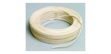 Cables - CABLE AUDIO BLANCO/GRIS R.100M 2X1