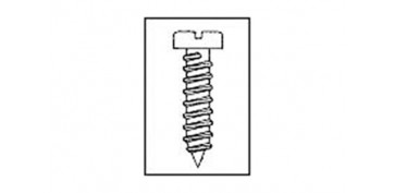Fijación y Tornilleria - TORNILLO ROSCA CHAPA C/ALOMADA 2,9X16