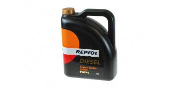 Productos para el automovil - ACEITE REPSOL DIESEL SUPER TURBO SHPD 15W40 5 L.