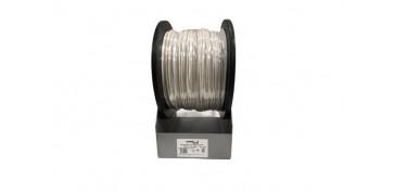 Cables - BOBINA CABLE MANGUERA REDONDA BLANCO H05VV-F 2X1