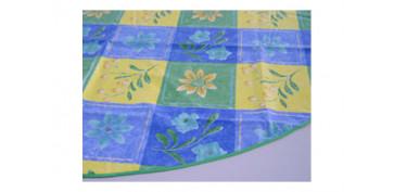 Textil y costura - MANTEL REDONDO 140 CM SURTIDO
