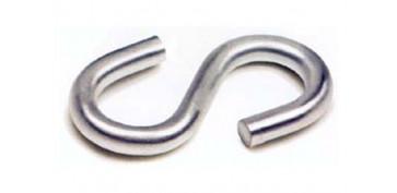 Cables y cadenas - GANCHO ESE GALVANIZADO 6