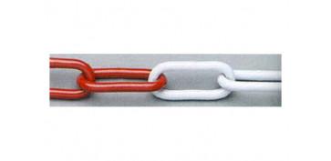 Cables y cadenas - CADENA SEÑALIZACION PLASTICO BLANCA/ROJA 8.0 MM
