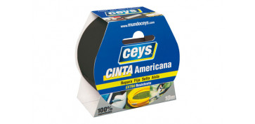 Adhesivos - CINTA AMERICANA TACKCEYS NEGRO 10X50
