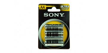 Pilas y baterías - PILA SALINA 1,5 V SONY R-06 BL.4 U