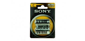 Pilas y baterías - PILA SALINA 1,5 V SONY R-14 BL.2 U