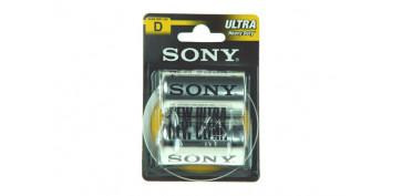 Pilas y baterías - PILA SALINA 1,5 V SONY R-20 BL.2 U