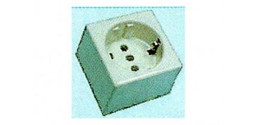 Material instalacion electrico - BASE SUPERFICIE CUADRADA CON TT 10/16A