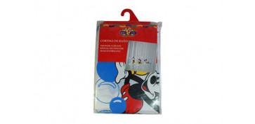 CORTINA PVC MICKEY BUR CELESTE 180X180 CM