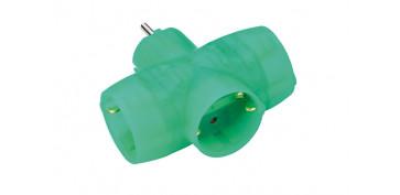 Material instalacion electrico - ADAPTADOR TRIPLE SCHUKO418353-VERDE