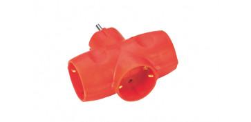 Material instalacion electrico - ADAPTADOR TRIPLE SCHUKO418360-SALMO