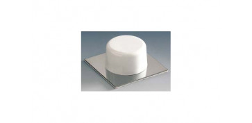 Topes y perchas adhesivas - TOPE PUERTA ADHESIVO (BL 2U) GRIS