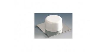 Topes y perchas adhesivas - TOPE PUERTA ADHESIVO (BL 2U) BLANCO