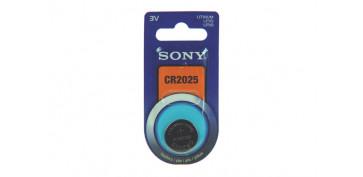 Pilas y baterías - PILA BOTON DE LITIO SONY CR-2025
