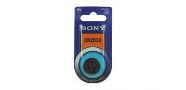 Pilas y baterías - PILA BOTON DE LITIO SONY CR-2032
