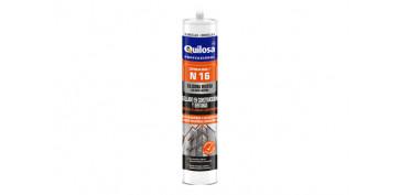 Masillas y siliconas - SILICONA NEUTRA N-16 300 ML BLANCA