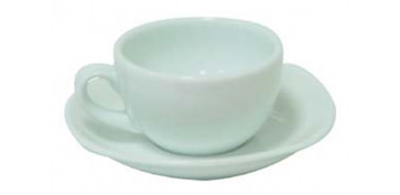 Vajillas - TAZA CAFE PORCEL BLANCA JGO 6U 3692/3593