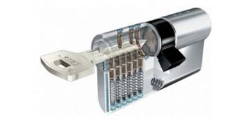 Cerraduras - CILINDRO TX80 LATON LLAVE PUNTOS 30-40