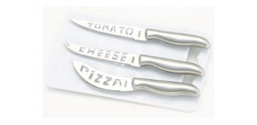 Cuchilleria - CUCHILLO SET 3 PIEZAS +TABLA CORTAR