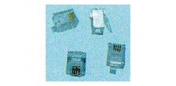 Instalación imagen, sonido y telefonía - CONECTOR MODULAR 6P4C 6 UNIDADES