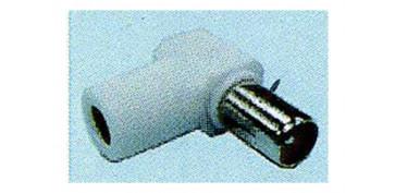 Instalación imagen, sonido y telefonía - CONECTOR TV Ø9,5 MM BLANCO ACODADO MACHO