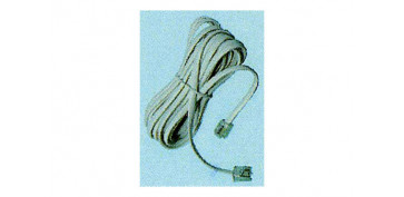 PROLONGACION 4,5M CABLE TELEFONO BLANCO MACHO/MACHO