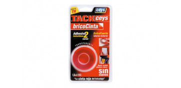 Adhesivos - BRICOCINTA DOBLE CARA TACKCEYS 1,5 M X 19 MM