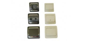 Material instalacion electrico - BASE TV-FM BLANCO