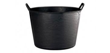 Recipientes de construccion - CAPAZO PLASTICO NEGRO N.4-55 L