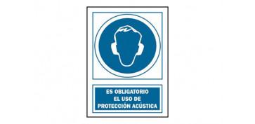 Señalizacion - SEÑAL PROTEC ACUST OBLIGAT PVC 129 OBA-CAT