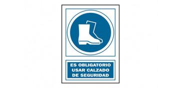 Señalizacion - SEÑAL USO BOTAS OBLIGAT PVC 140 OBA-CAT