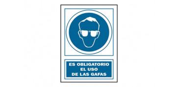 Señalizacion - SEÑAL USO GAFAS OBLIGAT PVC 130 OBA-CAT