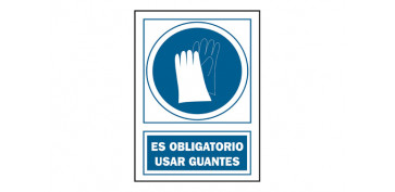 Señalizacion - SEÑAL USO GUANTES OBLIGAT PVC 135 OBA-CAST