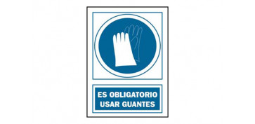 SEÑAL USO GUANTES OBLIGAT PVC 135 OBA-CAT