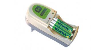 Pilas y baterías - CARGADOR PILAS MINI MP3+2AAA