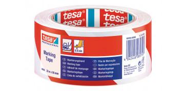 Adhesivos - CINTA SEÑALIZACION TEMPORAL 33X50 ROJA/BLANCA