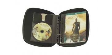 Estanterias y armarios - ESTUCHE 32 DVD TRANSPARENTE