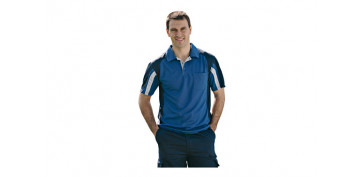 POLO COOLWAY TOP RANGE T.M AZUL / NEGRO