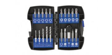 Juegos y kits para herramientas - BROCA+PUNTA ATORNILLAR SET 20 PZ 1500/18225