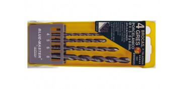 Juegos y kits para herramientas - BROCA PARA CERAMICA BW9 4 PIEZAS 4-5-6-8 MM