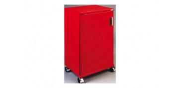 Mobiliario de baño - ARMARIO METALICO DOOR 2 RAQUER ROJO