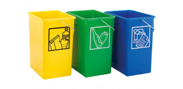 Reciclaje - CUBETA RECICLAR 20X28X34 C/ASA 15L-AMARILLO