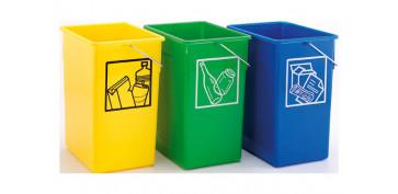 Reciclaje - CUBETA RECICLAR 20X28X34 C/ASA 15L-AZUL