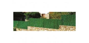 Cercado y ocultacion jardin - SETO ARTIFICIAL HOJA FINA 126 VARILLAS 1,5X3 MT VERDE