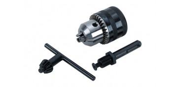 Complementos y repuestos de maquinaria - ADAPTADOR SDS PLUS + PORTABROCA 13 MM + LLAVE PORTABROCA