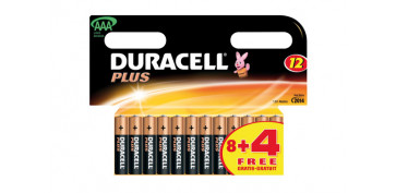 Pilas y baterías - PILA AAA PLUS(PACK 8U+4GRATIS) AAAB8+4GPLUS